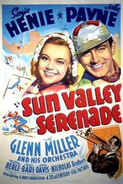 Sun Valley Serenade, Sonja Henie, John Payne, Glenn Miller, 1941