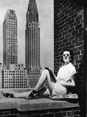 Sunbathing in a Highrise in New York