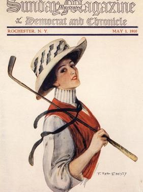 Sunday Magazine, Golf Womens Hats Portraits Magazine, USA, 1910