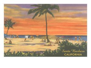 Sundown on the Beach, Santa Barbara, California