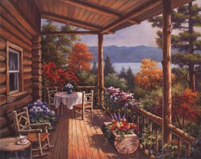 Log Cabin Covered Porch by Sung Kim