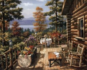 Log Cabin Porch by Sung Kim