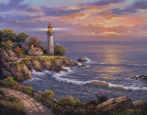 Sunset At Lighthouse Point by Sung Kim
