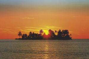 Sunny Island (Tropical Photo) Art Poster Print