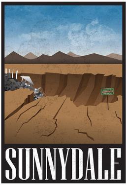 Sunnydale Retro Travel Poster