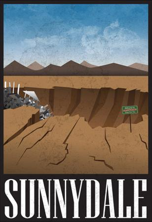Sunnydale Retro Travel Poster