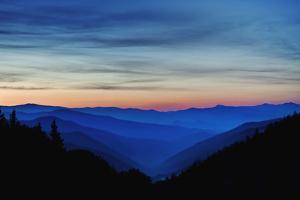 Sunrise, Great Smoky Mountains National Park, North Carolina, USA