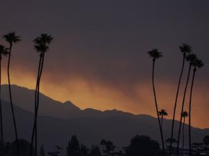 Sunrise in the San Gabriel Mountains Santa Anita 24th, October 2003