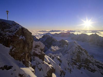 Sunrise on Zugspitze View from Highest Mountain