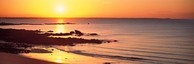 Sunrise over the Beach, Beg Meil, Finistere, Brittany, France