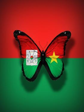 Burkina Faso Flag Butterfly, Isolated On Flag Background by suns_luck