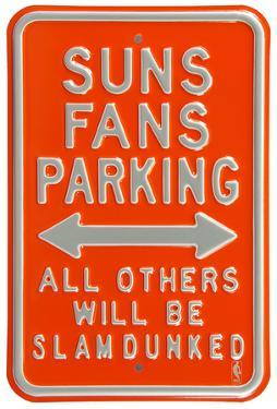 Suns Slam Dunked Parking Steel Sign