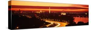Sunset, Aerial, Washington DC, District of Columbia, USA