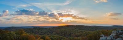 Sunset at Garden of the Gods Wilderness, Shawnee National Forest, Illinois, USA