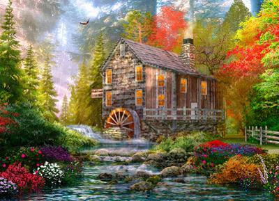 Sunset At The Old Mill 1000 Piece Puzzle