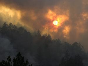Sunset Breaks Through Smoke of the Hayman Wildfire