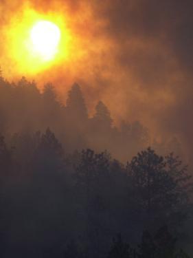 Sunset Breaks Through Smoke of the Hayman Wildfire