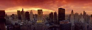 Sunset Cityscape Chicago IL USA