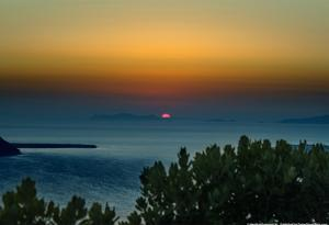 Sunset in Santorini Greece