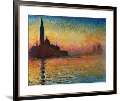 Sunset In Venice-Claude Monet-Framed Art Print