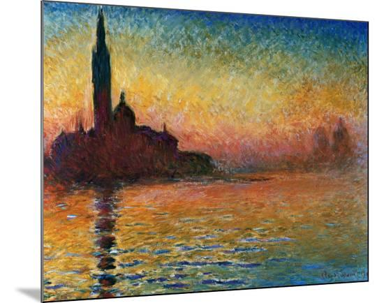 Sunset In Venice-Claude Monet-Mounted Print