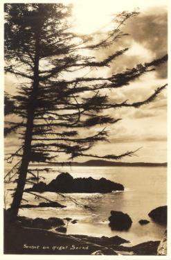Sunset on Puget Sound, Washington