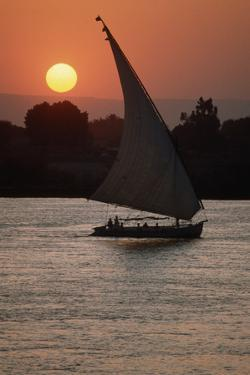 Sunset on the Nile with Boat