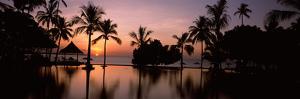 Sunset over Hotel Pool, Lombok, West Nusa Tenggara, Indonesia