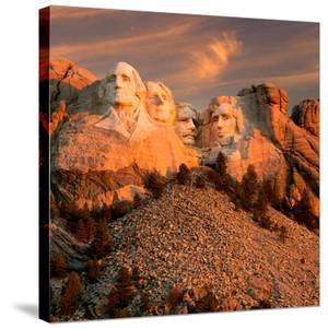 Sunset Over Mount Rushmore