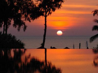 Sunset Over Thailand in the Aftermath of the Tsunami, in Phuket, Thailand