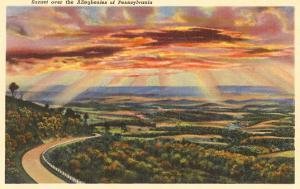 Sunset over the Alleghenies, Pennsylvania