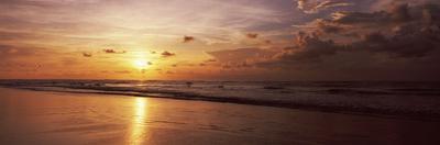Sunset over the Beach, Kuta Beach, Bali, Indonesia