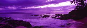 Sunset over the Coast, Makena Beach, Maui, Hawaii, USA