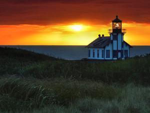 Sunset, Point Cabrillo Lighthouse, California, USA