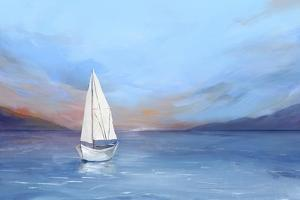 Sunset Sailboat by Isabelle Z