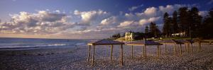 Sunshades on the Beach, Indiana Tea House, Cottesloe Beach, Perth, Western Australia, Australia