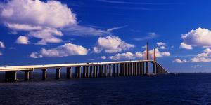 Sunshine Skyway Bridge spanning Tampa Bay, Florida, USA