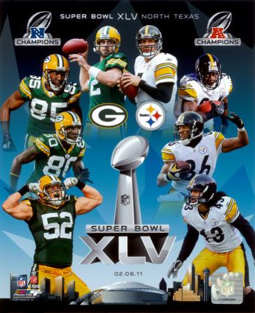 Super Bowl 45 Match-Up Composite Green Bay Packers Vs. Pittsburgh Steelers