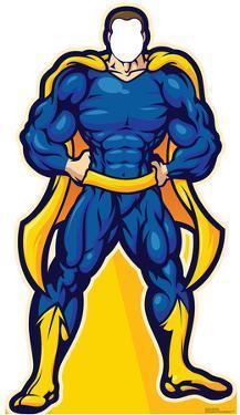 Super Hero In Blue Stand In