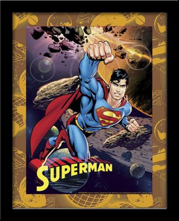 Superman Astroid 3D Framed Art