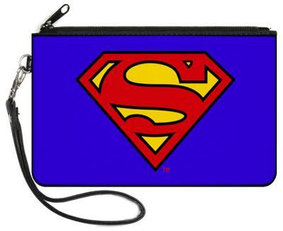 Superman - Blue Canvas Zipper Wallet