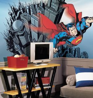 Superman Chair Rail Prepasted Mural