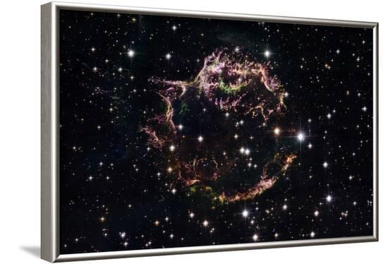 Supernova Remnant Cassiopeia A - March 2004--Framed Art Print