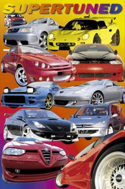 Supertuned (Race Cars) Art Poster Print
