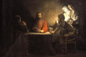 Supper at Emmaus, 1648, by Rembrandt Van Rijn (1606-1669)