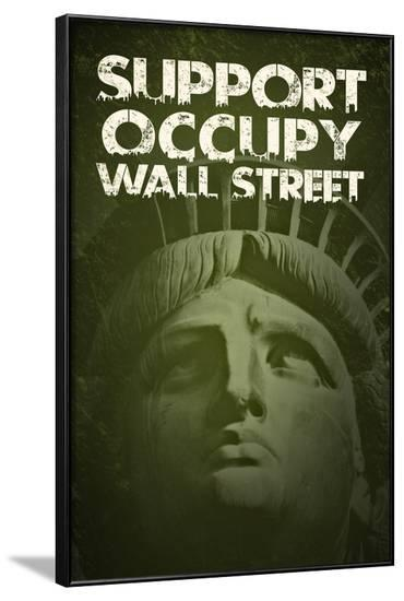 Support Occupy Wall Street--Framed Art Print