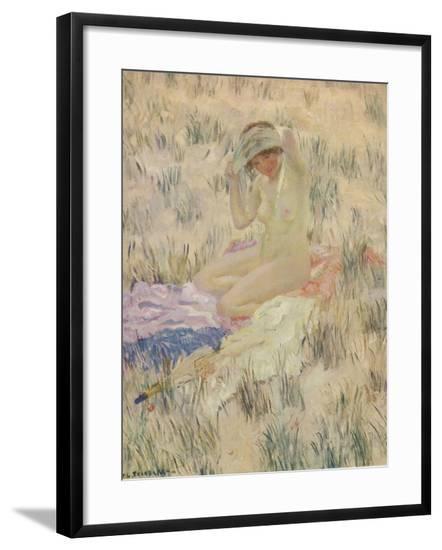 'Sur les Dunes', 1913, (c1932)-Frederick Carl Frieseke-Framed Giclee Print