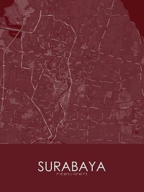 Surabaya, Indonesia Red Map
