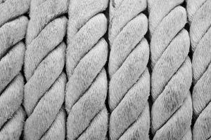 Ship Ropes Sack As Black And White Color by surawutob