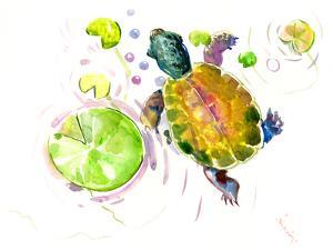 Baby Turtle Lotus by Suren Nersisyan